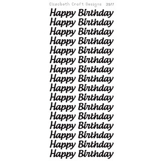 Happy Birthday Large Peel-Off Stickers-Silver - Silver