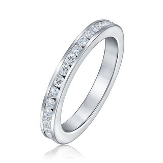 Bling Jewelry Sterling Silver CZ Eternity Band