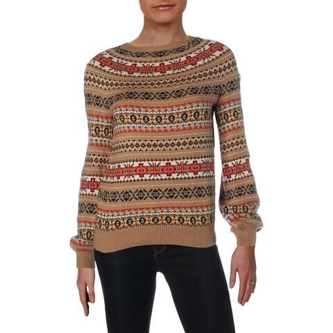 Lauren Ralph Lauren Womens Philantha Crewneck Sweater Wool Blend Long Sleeves