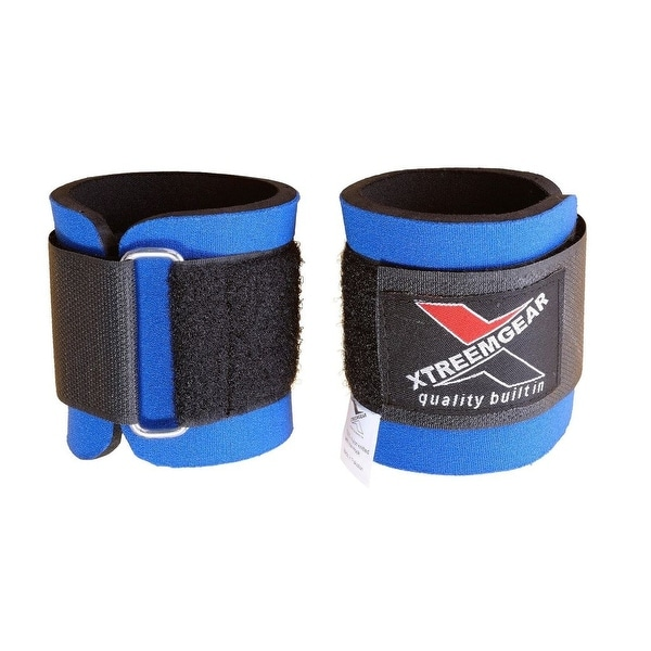 Weight Lifting Wrist WrapsTraining Straps Locked with Hook Blue W1-B