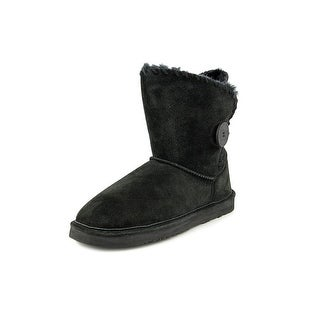 Lamo Snowmass Women Round Toe Suede Black Snow Boot