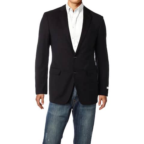 Calvin Klein Mens Two-Button Blazer Wool Extreme Slim Fit