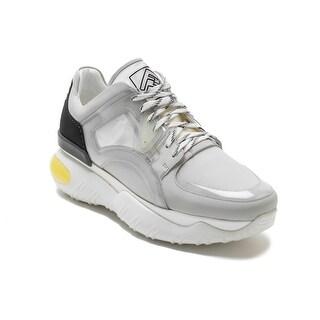 FENDI Men's Leather Sneaker Shoes White