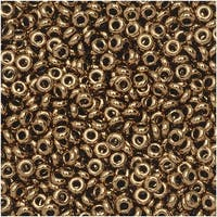 Toho Demi Round Seed Beads, Thin 11/0 (2.2mm) Size, 7.8 Grams, 221 Bronze