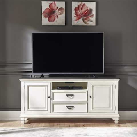 Allyson Park Wirebrushed White 66-inch TV Console - 65 inches in width