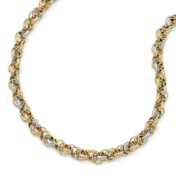 Italian 14k Two-Tone Gold Necklace - 18 inches
