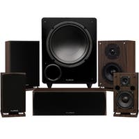 Fluance Elite Series Compact Surround Sound Home Theater 5.1 Channel System - Walnut (SX51WC)