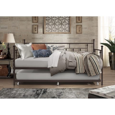 Aine Metal Daybed with Trundle