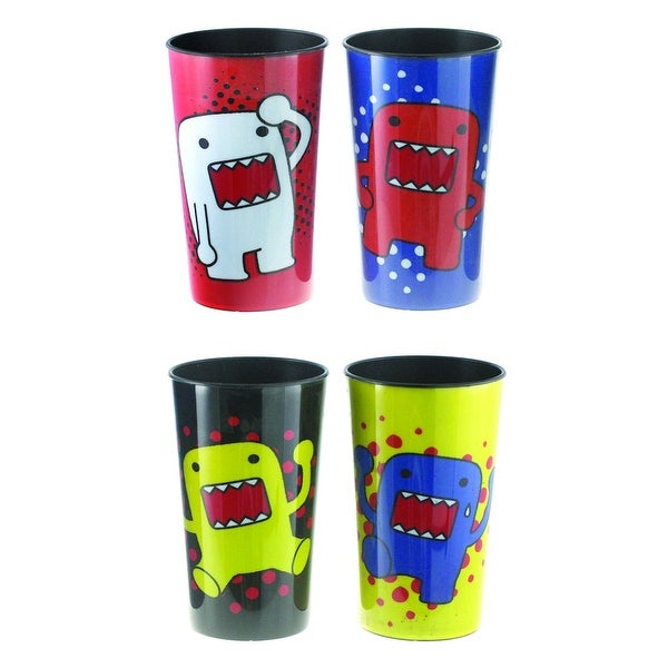 domo multi colored 16 oz plastic party cups 4 pack free