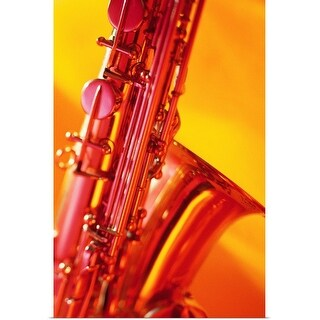 """Close-up of saxophone"" Poster Print"