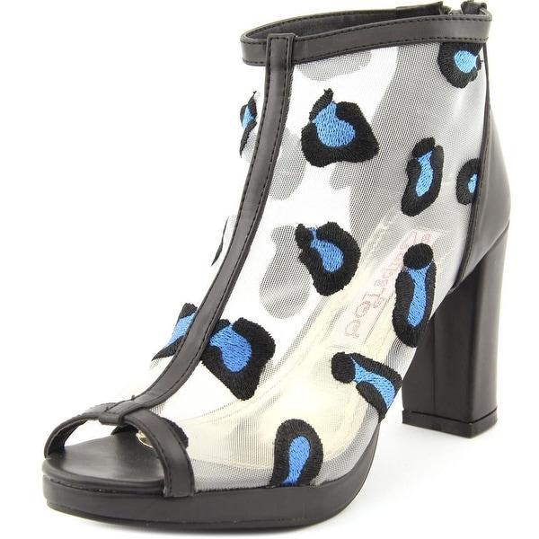 2 Lips Too Too Hollow Women Open Toe Synthetic Black Platform Heel