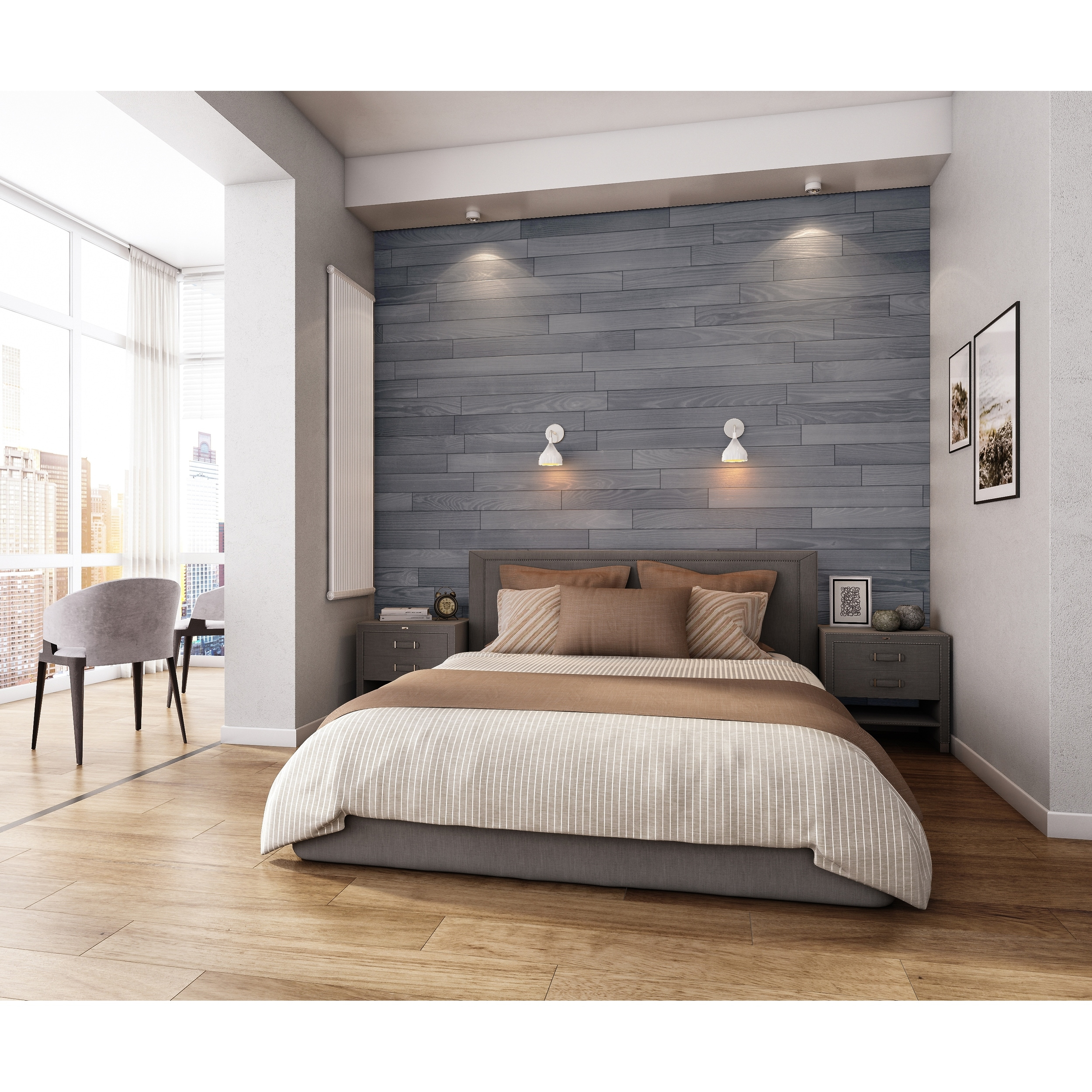 L And Stick Real Wood Wall Panels