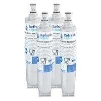 Replacement Water Filter For Whirlpool 491849 Refrigerator Water Filter - by Refresh (4 Pack)