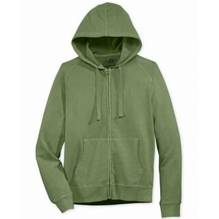 American Rag NEW Green Mens Size Medium M Hooded Full Zip Sweater