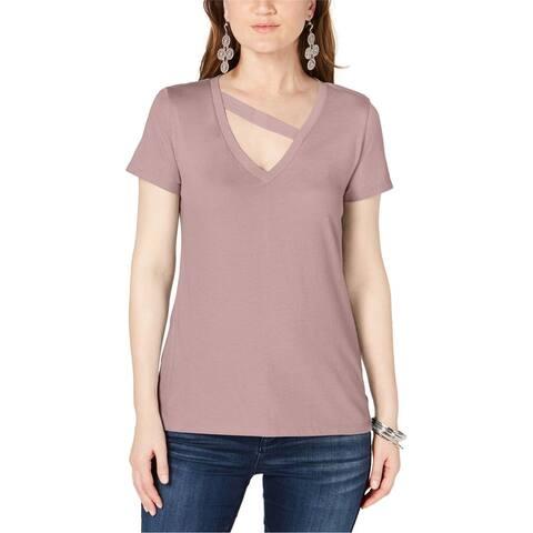 I-N-C Womens Solid Basic T-Shirt