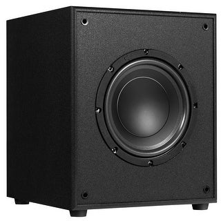 Gymax 10'' 300W Powered Active Subwoofer W/Front-Firing Woofer HD Home Theater Music