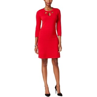Nine West Womens Sweaterdress Cut-Out Fit & Flare
