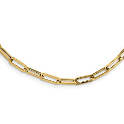 14K Yellow Gold Polished Fancy Link 31.5-inch Necklace by Versil