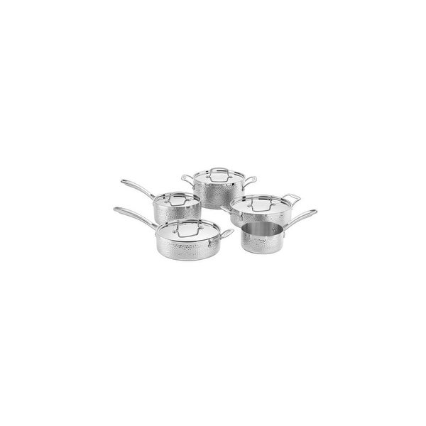 Cuisinart 9pc Set Hammered Tri-ply StainlessSteel 9pc Set Hammered Tri-ply Ss