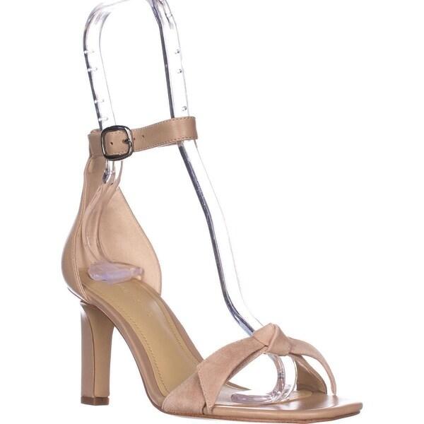 Marc Fisher Dalli Ankle Strap Heeled Sandals, Light Natural