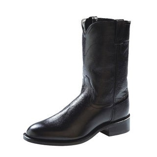 Old West Cowboy Boots Mens Corona Roper Neolite Black SRM4010