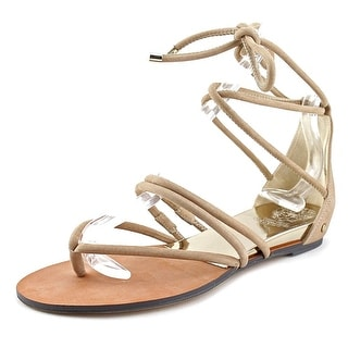 Vince Camuto Adalson Women Open Toe Leather Nude Sandals