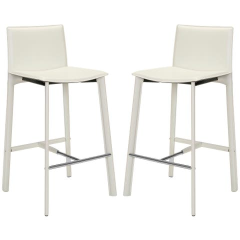 """SAFAVIEH Janet Faux Leather 29-inch Bar Stool (Set of 2) - 18.7"""" W x 19.7"""" L x 39.4"""" H"""