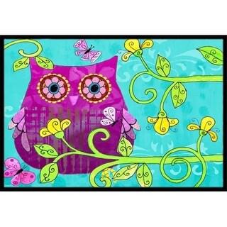 Carolines Treasures PJC1093JMAT Sittin In The Flowers Owl Indoor & Outdoor Mat 24 x 36 in.