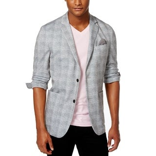 Vince Camuto NEW Gray Mens Size Large L Plaid Two Button Blazer