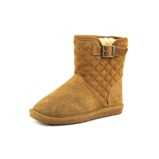 Bearpaw Leigh Anne Youth Round Toe Suede Brown Winter Boot