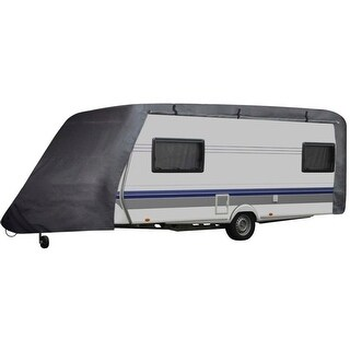 vidaXL Camper/Trailer Cover M Gray - grey