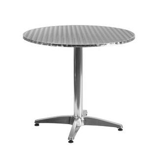 Skovde Round 31.5'' Aluminum Table w/Base for Patio/Bar