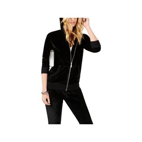 MICHAEL Michael Kors Womens Hoodie Textured Glitter - XS