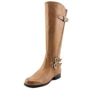 Naturalizer Johanna Wide calf Women Round Toe Leather Brown Knee High Boot