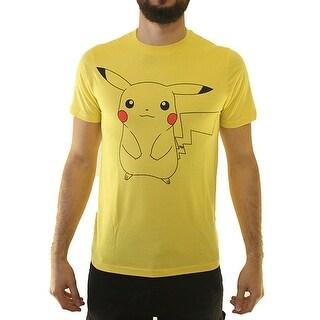 Pokemon Pikachu Men's Yellow T-shirt