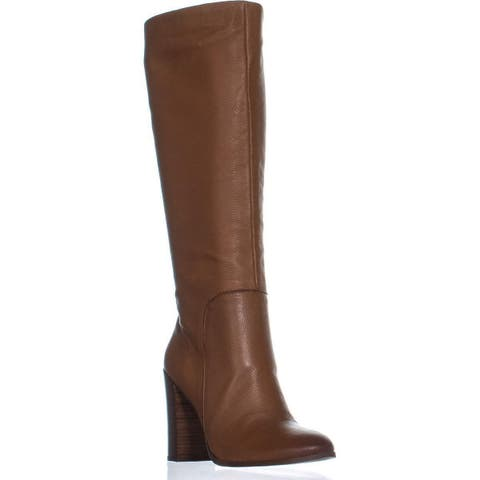 Kenneth Cole New York Justin Heeled Knee High Dress Boots, Cognac