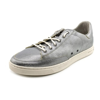 Diesel The Great Beyond Lo-Culture Men Round Toe Leather Silver Sneakers