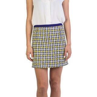 Miu Miu Women's Cotton Blend Tweed Skirt Blue - 40