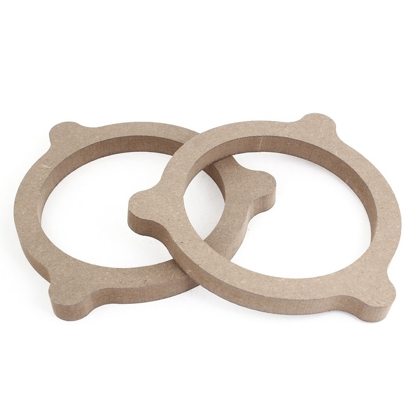 """Unique Bargains 2PCS 6.5"""" Khaiki Wood Speaker Stereo Spacers Adpater for Nissan"""