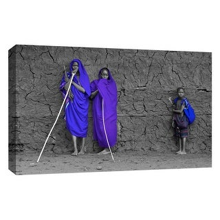 """PTM Images 9-126734  PTM Canvas Collection 10"""" x 8"""" - """"Family II"""" Giclee Children and Women Art Print on Canvas"""