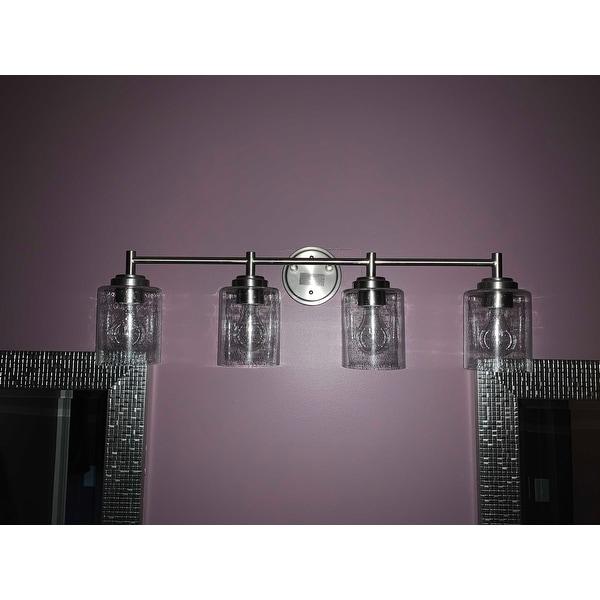 The Gray Barn Saffron 4 Light Brushed Nickel Bath Vanity Light