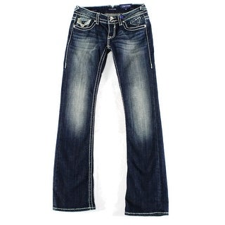 Vigoss NEW Blue Women's Size 27X33 Boot Cut Seamed Stonewashed Jeans
