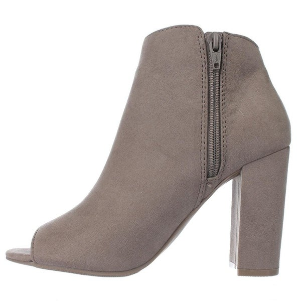 Material Girl Womens Carena Fabric Peep Toe Ankle Fashion Boots