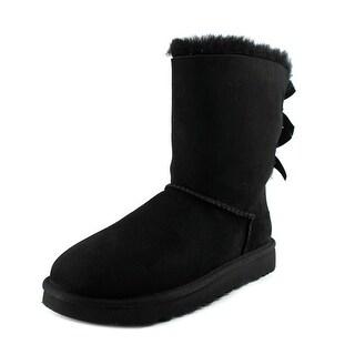 Ugg Australia Bailey Bow II Women Round Toe Suede Black Winter Boot