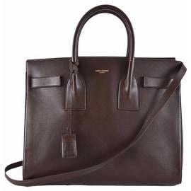 New Yves Saint Laurent YSL Brown Leather Sac de Jour Small Handbag Purse W/Strap