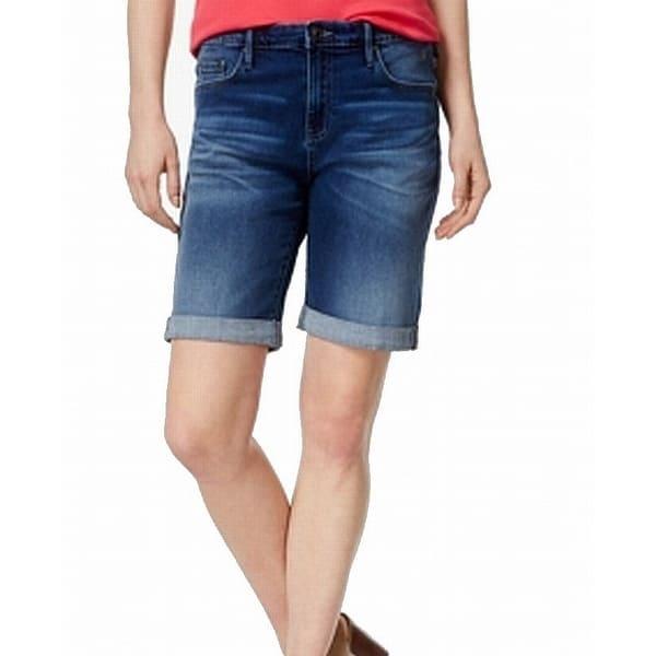 d966a1e892837 Tommy Hilfiger Womens Button-Front Bermuda Denim Shorts