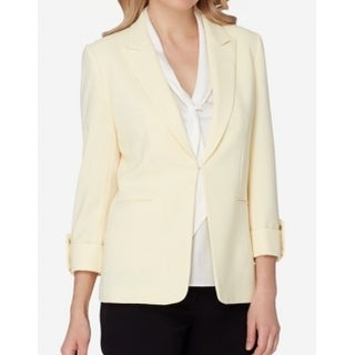 Tahari by ASL NEW Yellow Womens Size 2 Two-Pocket Front Clasp Blazer