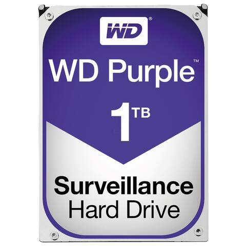 WD Purple Surveillance Hard Drive WD10PURZ 1 TB SATA 6Gb/s - Silver - 1.2 x 4 x 5.8 inches