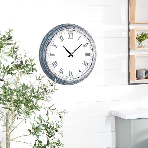 White Metal Farmhouse Wall Clock 23 x 23 x 3 - 23 x 3 x 23. Opens flyout.
