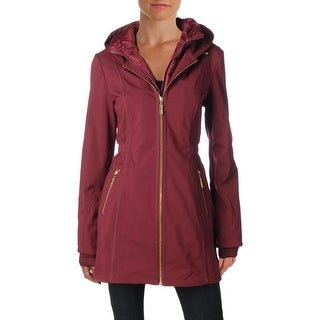 Betsey Johnson Womens Water Resistant Coat Lightweight Anorak